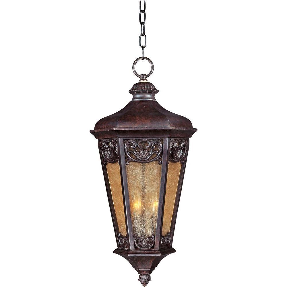 Lexington Vivex 3-Light Colonial Umber Outdoor Hanging Lantern