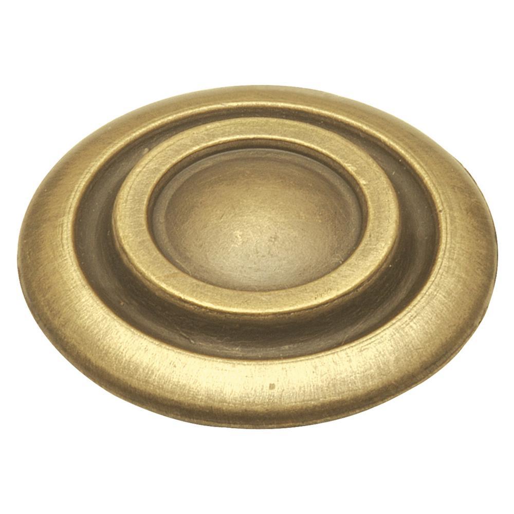 Cavalier 1-3/8 in. Antique Brass Cabinet Knob