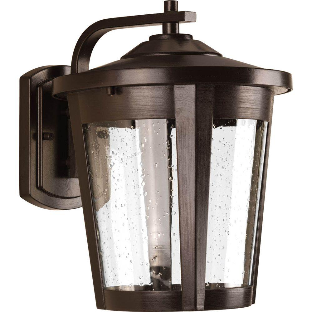 East Haven Collection 1-Light Outdoor Antique Bronze LED Wall Lantern