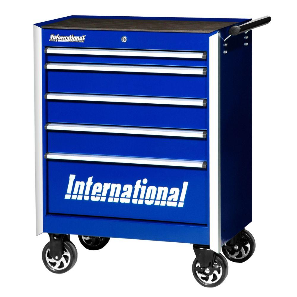 Pro Series 27 in. 5-Drawer Cabinet, Blue