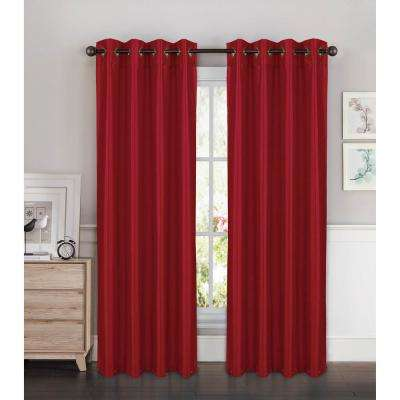 Kim Faux Silk Grommet Extra Wide Curtain Panel, 54 in. W (1 Pair)