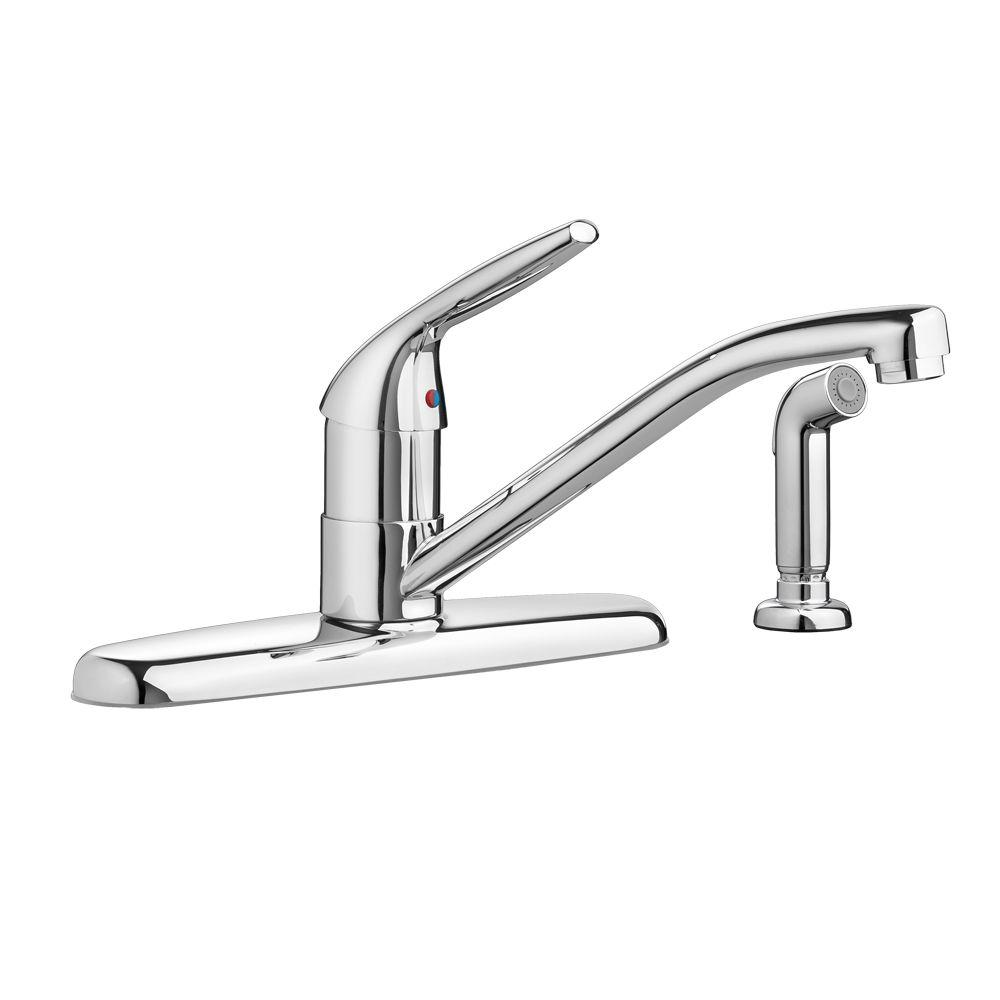 American Standard Colony Choice Single-Handle Standard Kitchen Faucet with Side Sprayer with 2.2 gpm in Polished Chrome