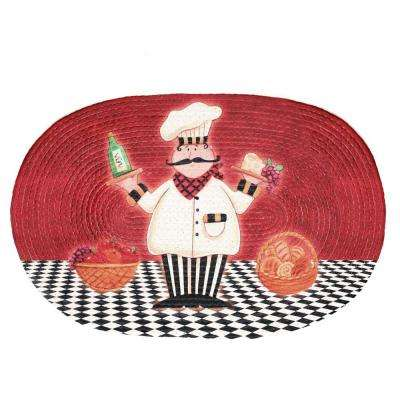 Chef Buono Appetito 2 ft. x 3 ft. Braided Rug