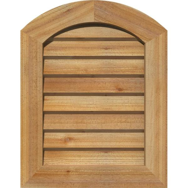 Ekena Millwork 21 X 31 Round Top Unfinished Rough Sawn Western Red Cedar Wood Paintable Gable Louver Vent Non Functional Gvwar16x2602rduwr The Home Depot