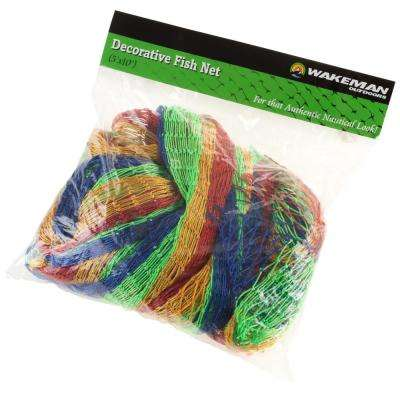 Fishing Net Decoration in Rainbow Colors