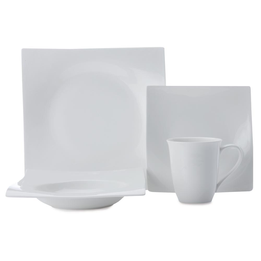 Maxwell & Williams White Basics Motion Porcelain Dinner S...
