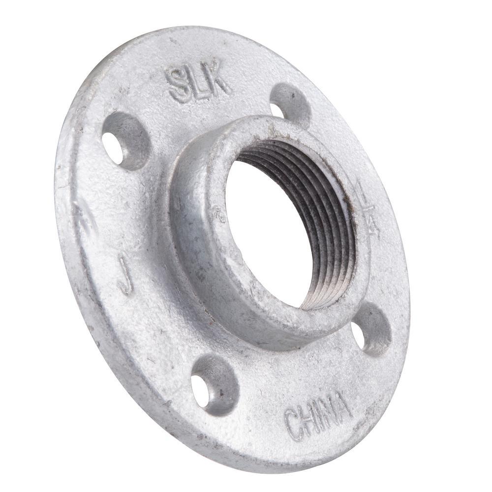 LDR Industries 1-1/4 in. Galvanized Iron Floor Flange