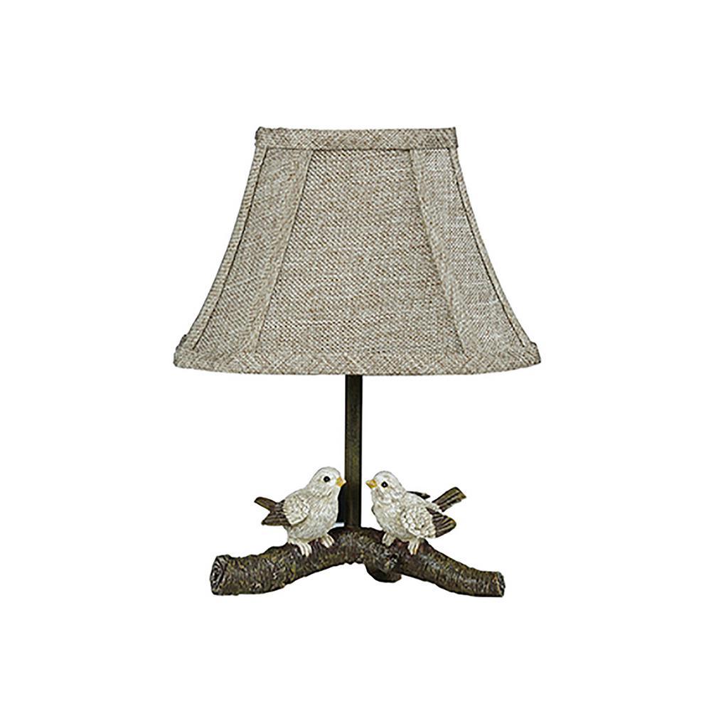 12 in. Gray Novelty Lamp