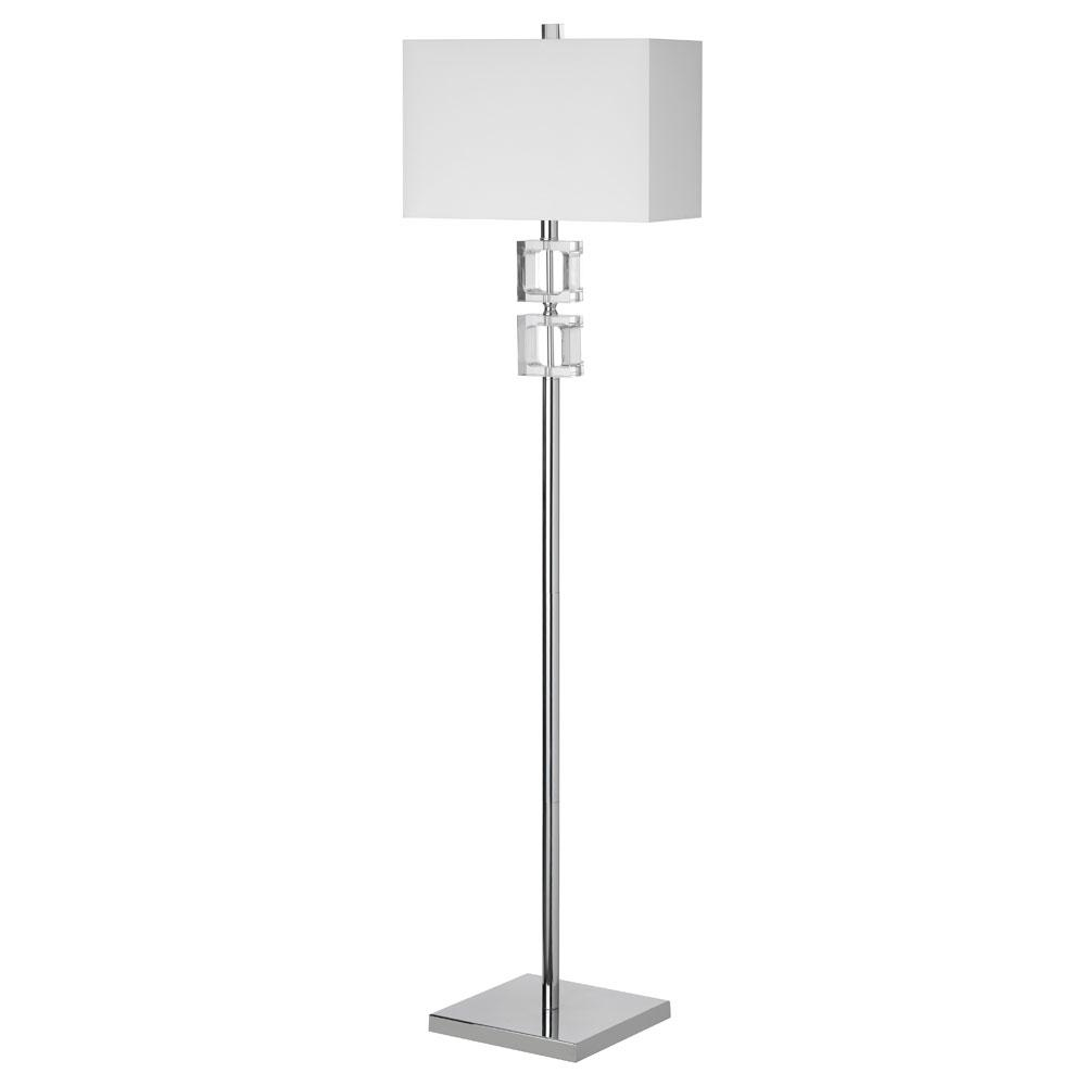 Filament Design 60.25 in. Polished Chrome Floor Lamp