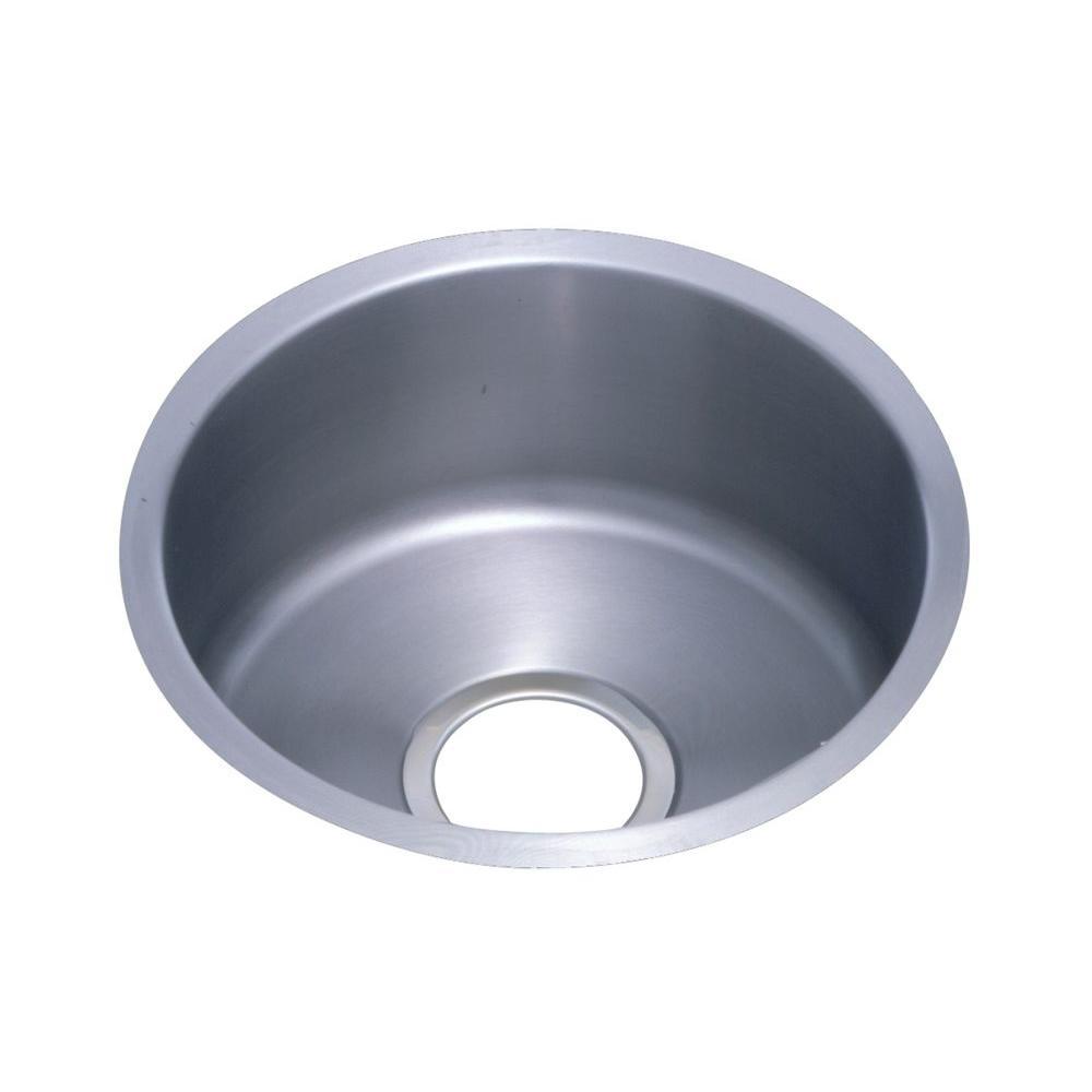 Elkay Lustertone Undermount Stainless Steel 14 in. Single Bowl Kitchen Sink