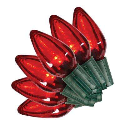 35L SMOOTH C9 LED SUPER BRIGHT CONSTANT ON RED - C9 - Red - Christmas String Lights - Christmas Lights - The Home Depot