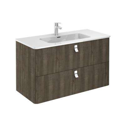 39 in. W x 20 in. D x 23 in. H Bathroom Vanity Unit in Samara Ash with Vanity Top and Basin in White