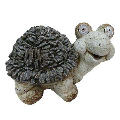 7 in. Tall Solar Turtle Statue with LED Lights