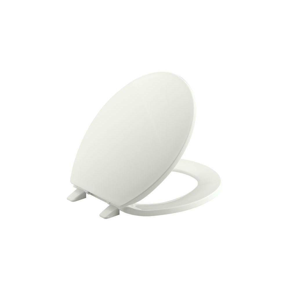 Brevia Round Closed Front Toilet Seat in Dune