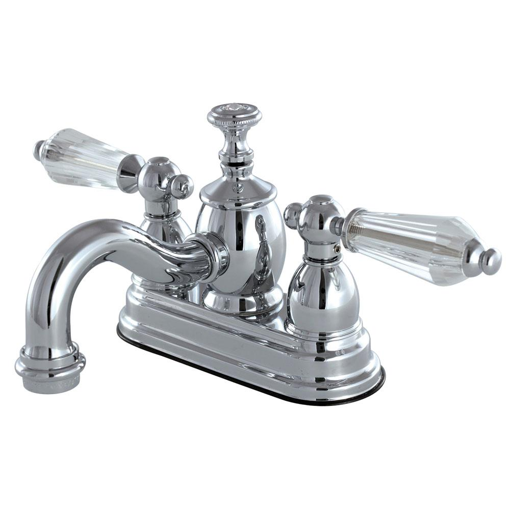 French Crystal 4 in. Centerset 2-Handle Bathroom Faucet in Chrome