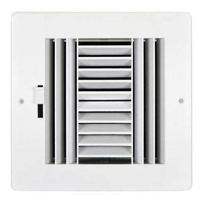 8 in. x 8 in. 4-Way ABS Plastic Grilles
