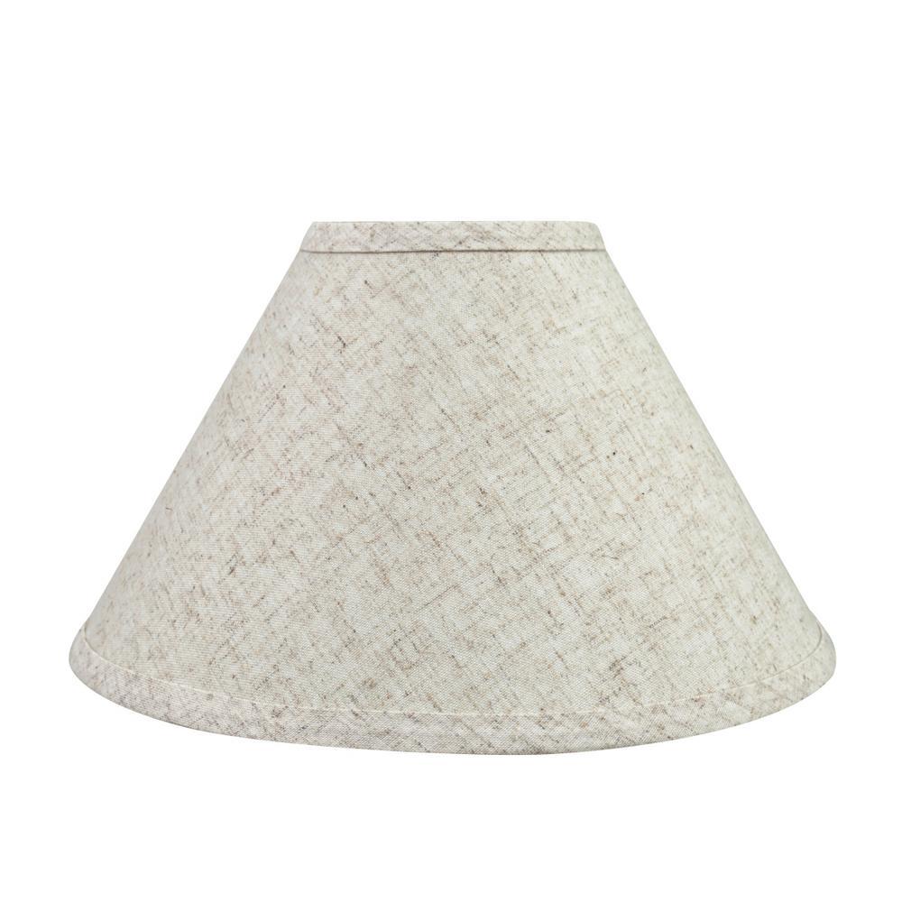11 in. x 7 in. Beige Hardback Empire Lamp Shade