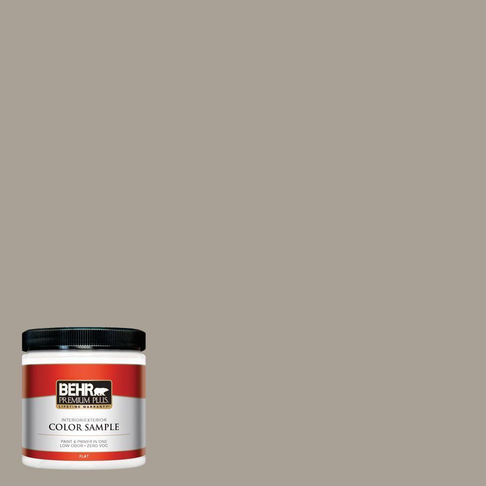 BEHR Premium Plus 8 oz. #ECC-18-1 Quail Ridge Interior/Exterior Paint Sample
