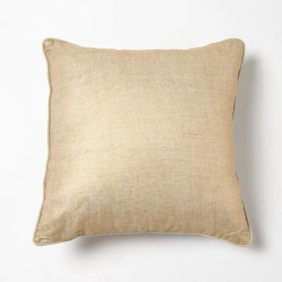 Gold Solid Polyester 18 in. x 18 in. Throw Pillow