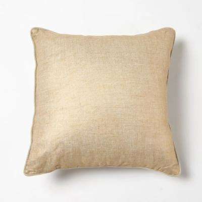 Gold Metallic Linen Decorative Pillow