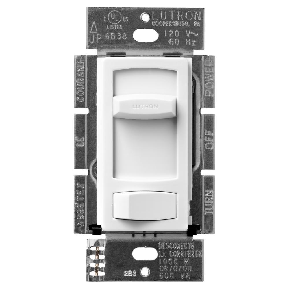 Skylark Contour 1000-Watt Single-Pole/3-Way Preset Dimmer - White