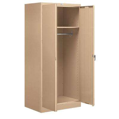 36 in. W x 78 in. H x 24 in. D Wardrobe Storage Cabinet Assembled in Tan
