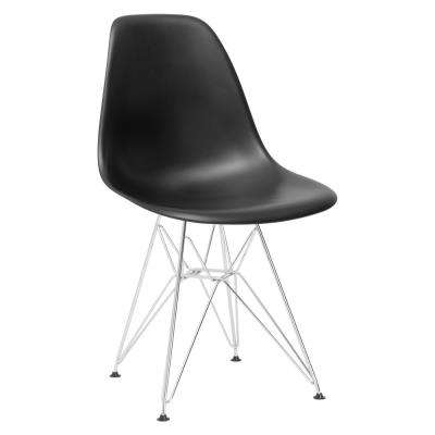 Padget Chrome and Black Side Chair