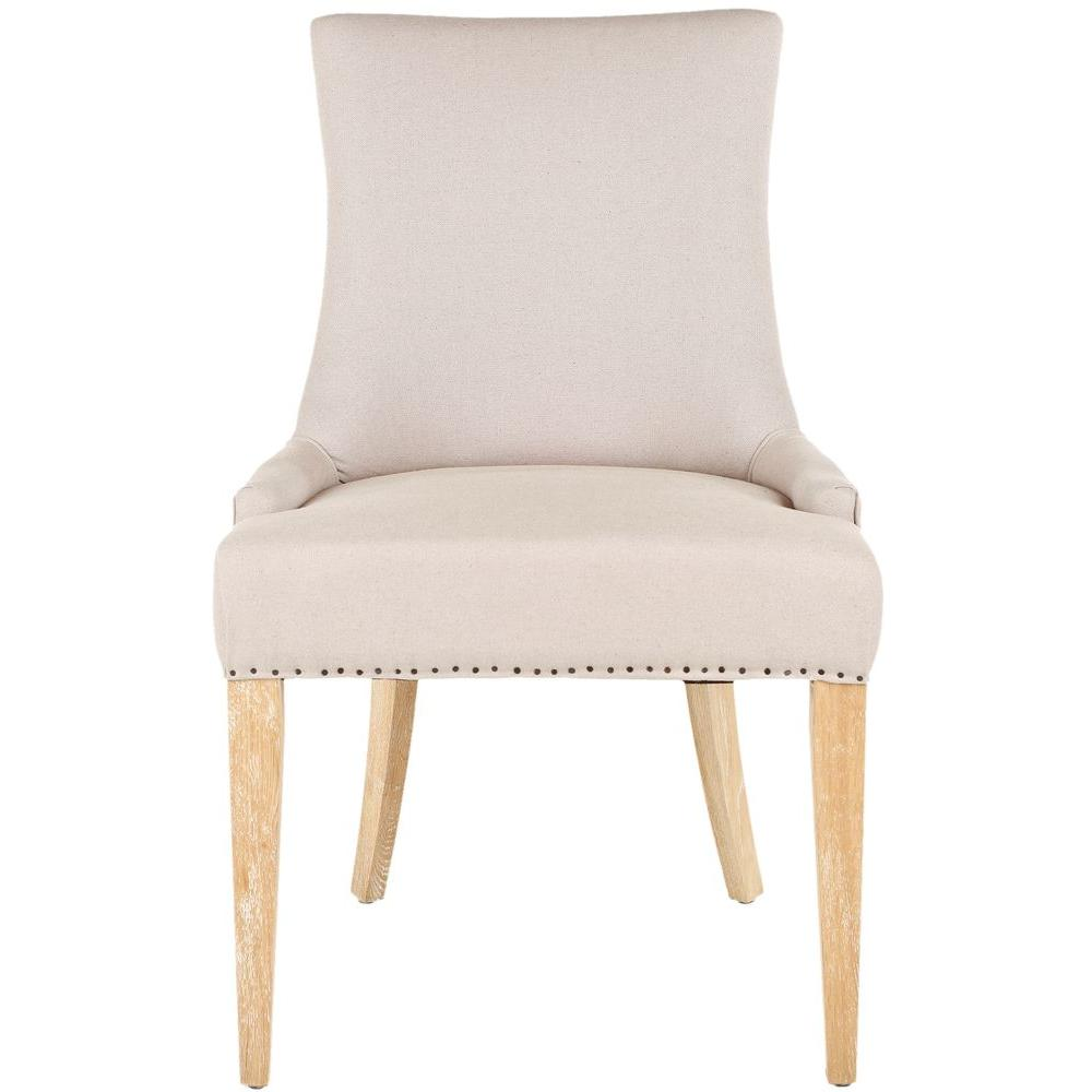 safavieh becca taupe and beige linen blend dining chair mcr4502p the home depot. Black Bedroom Furniture Sets. Home Design Ideas