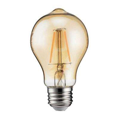 60-Watt Equivalent A19 Dimmable Indoor/Outdoor Vintage Glass Edison LED Light Bulb Amber Warm White (2000K)