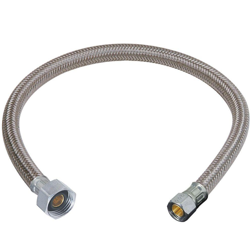 BrassCraft 3/8 in. Compression x 1/2 in. FIP x 12 in. Braided Polymer Faucet Connector