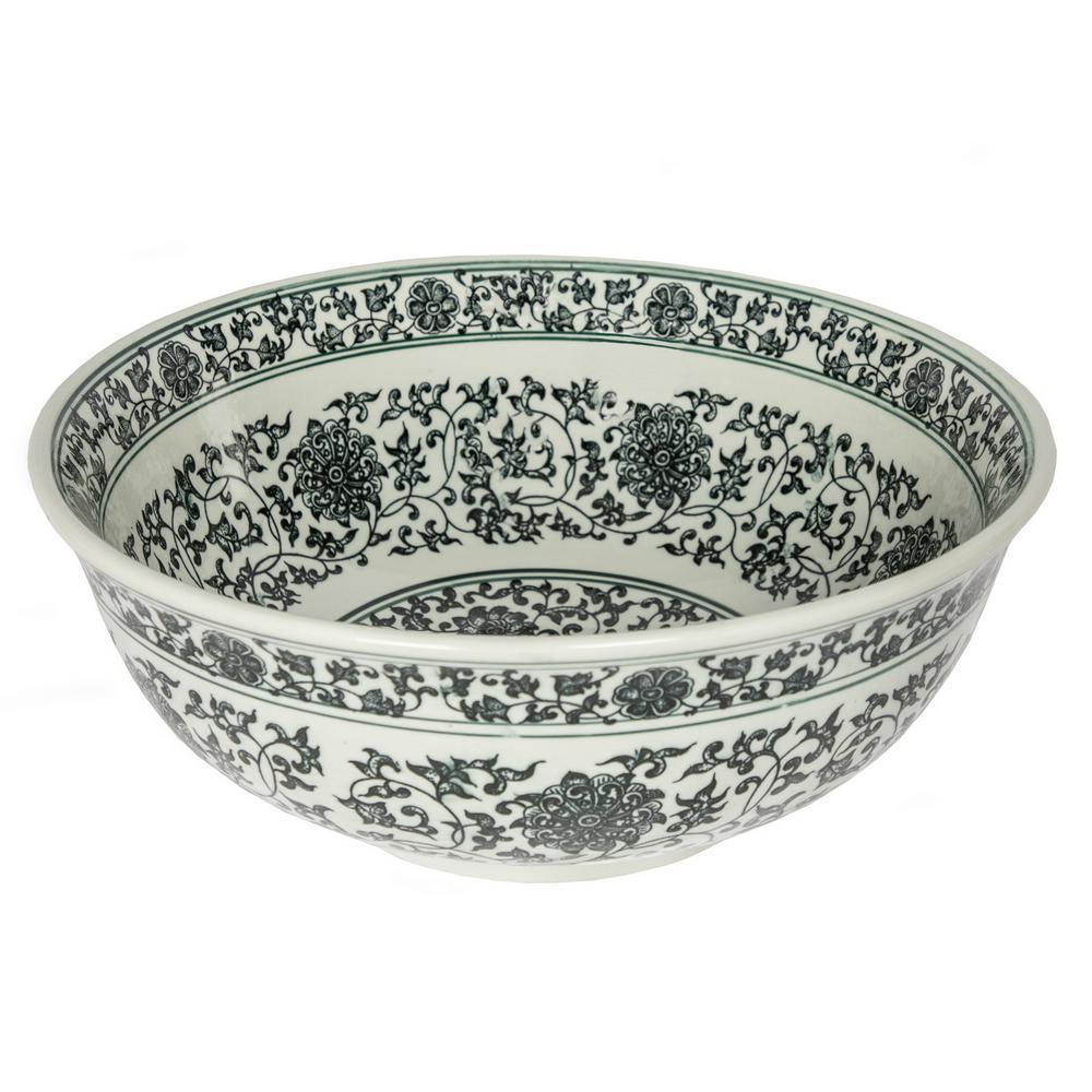 Ming Dynasty Decorative Porcelain Vessel Sink in Black