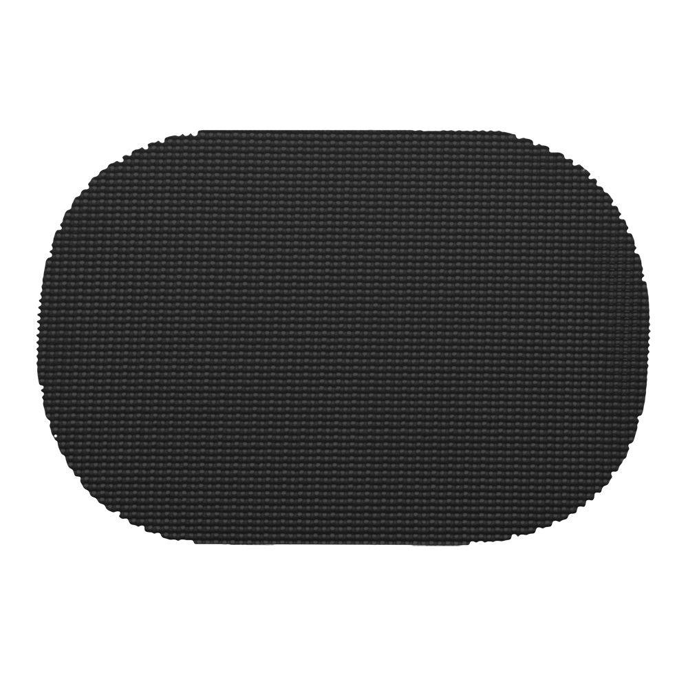 Fishnet Oval Placemat in Black (Set of 12)