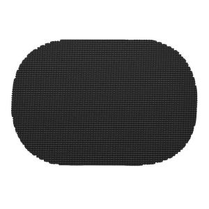 Kraftware Fishnet Oval Placemat in Black (Set of 12) by Kraftware