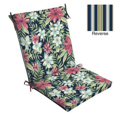 20 x 20 Sapphire Clarissa Tropical Outdoor Dining Chair Cushion