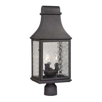 Worcester Forge Collection 3-Light Charcoal Outdoor Post Light