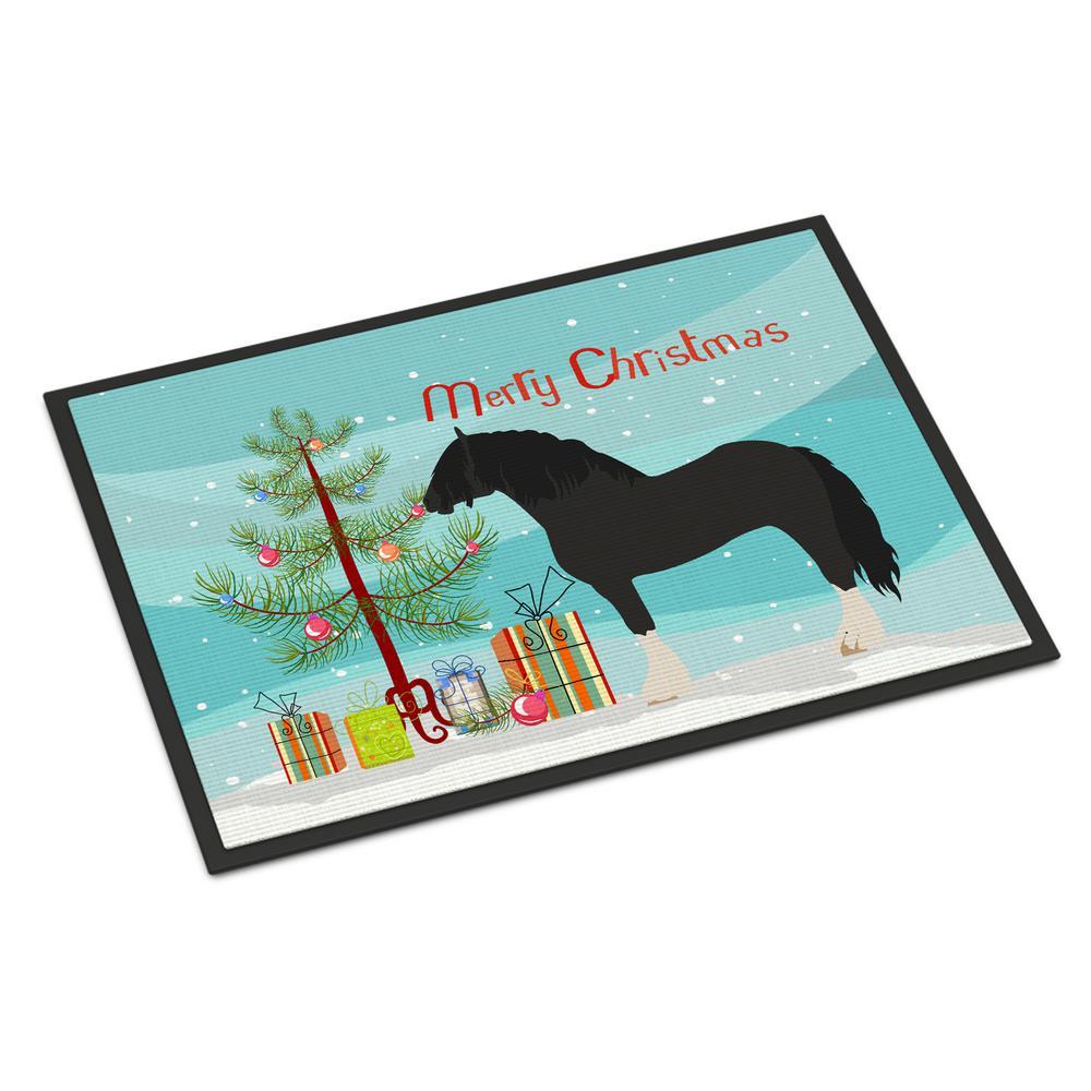 18 in. x 27 in. Indoor/Outdoor Pomeranian Rogener Goose Christmas Door Mat