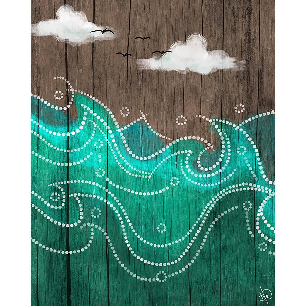 "20 in. x 24 in. ""Dark Waters on Wood"" Acrylic Wall Art Print"