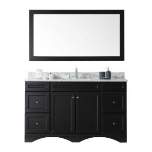 Virtu USA Talisa 60 inch Single Vanity in Espresso Finish with Marble Vanity Top... by Virtu USA