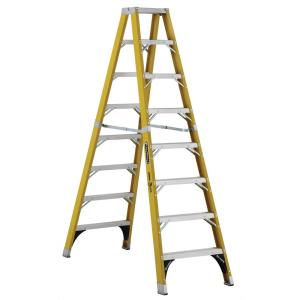 Louisville Ladder 8 ft. Fiberglass Twin Step Ladder with 375 lbs. Load Capacity... by Louisville Ladder