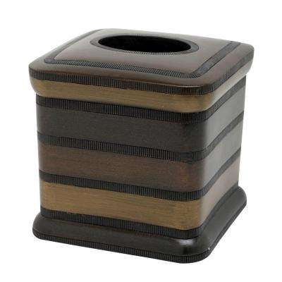 DeSoto Tissue Box Cover in Tri-Color Bronze