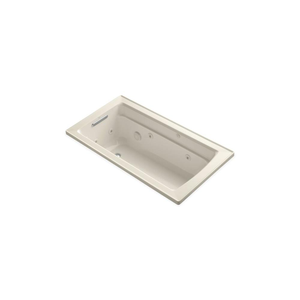KOHLER Archer 5 ft. Whirlpool Tub in Almond