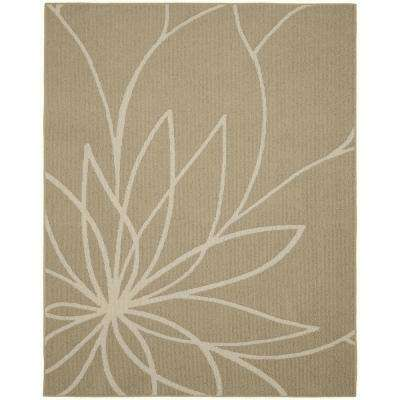 Grand Floral 8 ft. x 10 ft. Area Rug Tan/Ivory