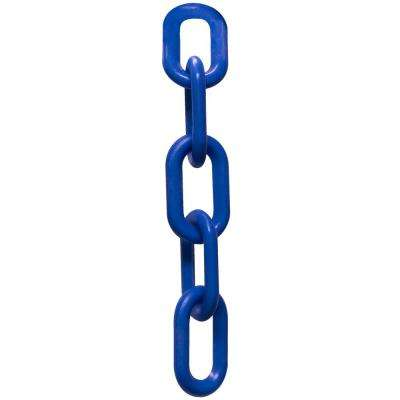 3 in. (#10, 76 mm) x 25 ft. Blue Plastic Chain