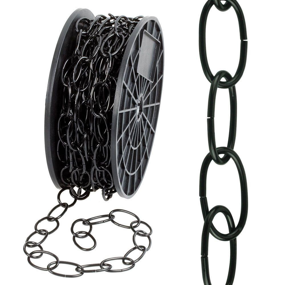 #2/0 x 50 ft. Decorator Steel Chain, Black