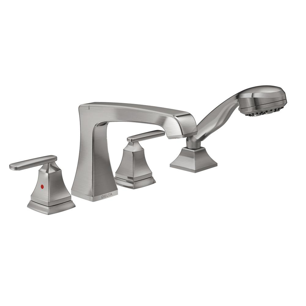 Delta Ashlyn 2 Handle Deck Mount Roman Tub Faucet Trim Kit
