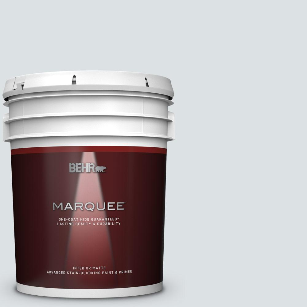 Behr Marquee 5 Gal Mq3 27 Etched Glass One Coat Hide Matte Interior Paint And Primer In One 145005 The Home Depot