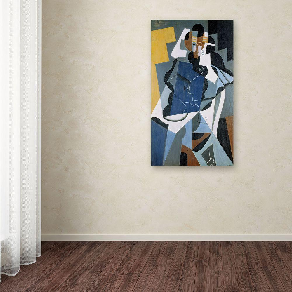 24 in. x 14 in. Figure of a Woman Canvas Art