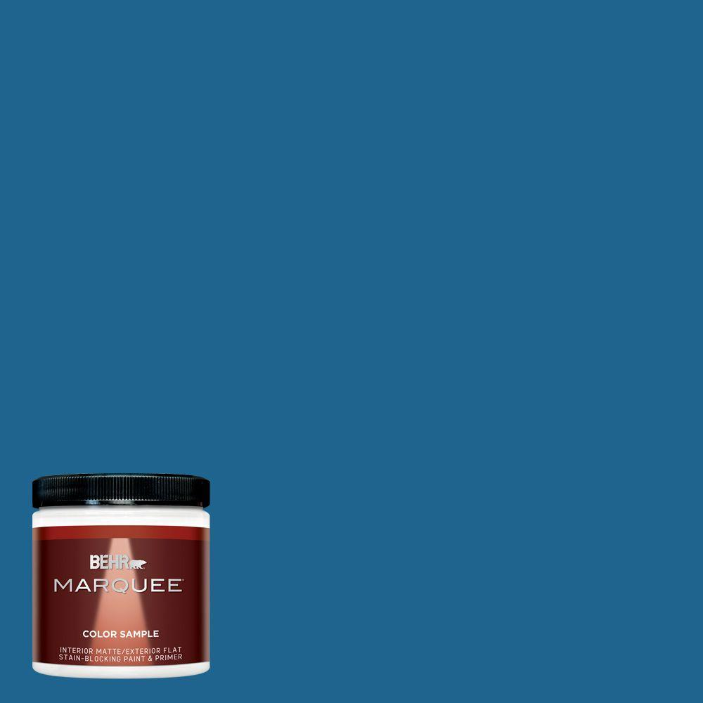 BEHR MARQUEE 8 oz. #MQ5-57 Traditional Blue Interior/Exterior Paint Sample