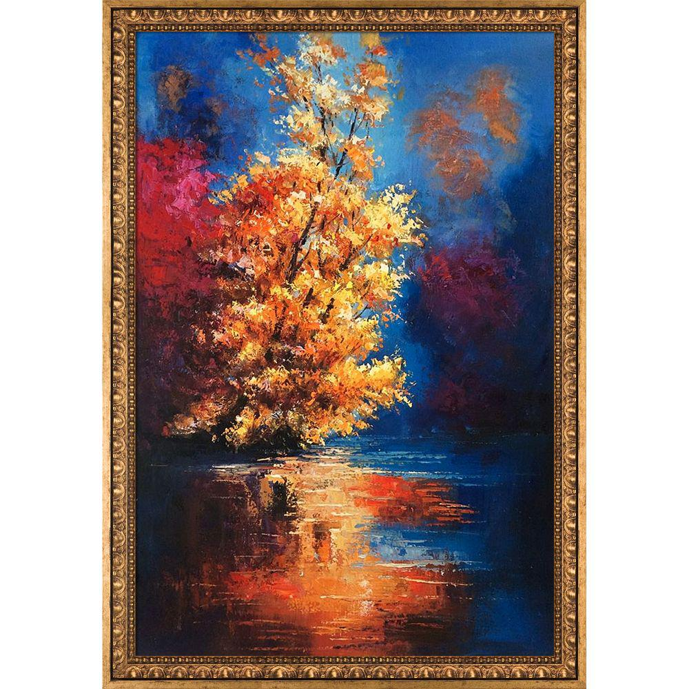 ArtistBe River Reproduction with Versailles Gold Frameby Justyna Kopania Canvas Print, Multi-color was $1119.01 now $544.9 (51.0% off)
