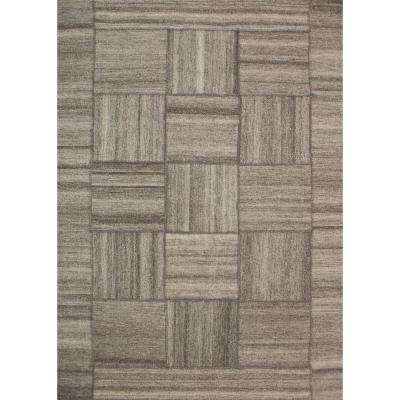 Patchwork Light Beige/Beige 5 ft. x 8 ft. Indoor Area Rug